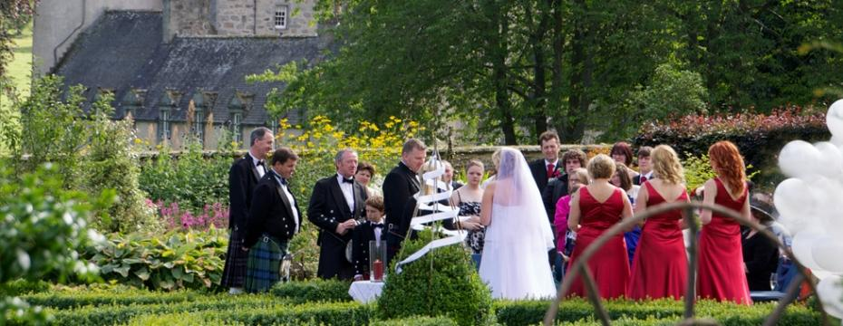 Scottish wedding garden
